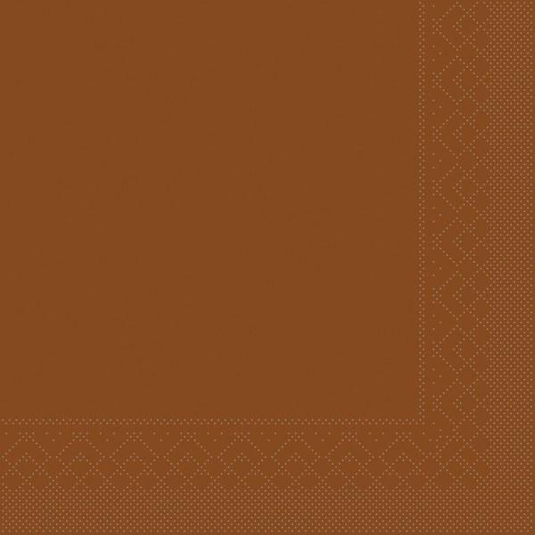 Serviette Bronze aus Tissue 40 x 40 cm, 20 Stück