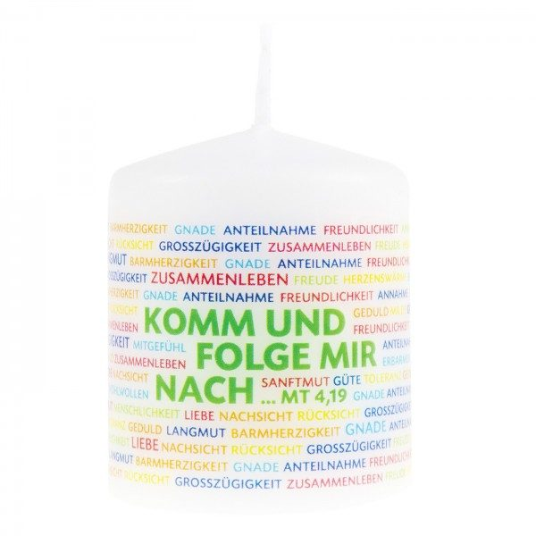 Stumpenkerze Konfirmation/Kommunion NACHFOLGE, 1 Stück