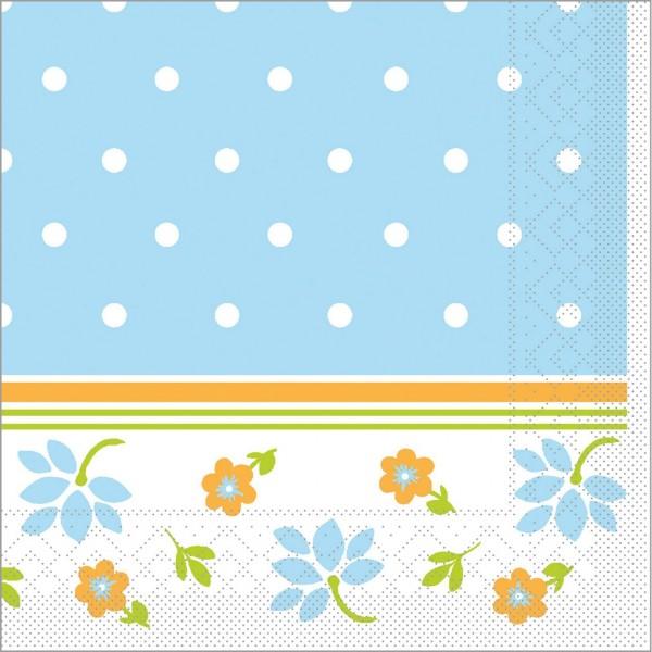 Serviette Lea in blau aus Tissue 33 x 33 cm, 100 Stück