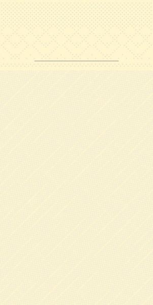 Besteckserviette Creme aus Tissue Deluxe® 40 x 40 cm, 100 Stück