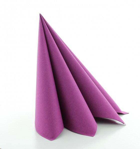 Serviette Aubergine aus Linclass® Airlaid 40 x 40 cm, 12 Stück