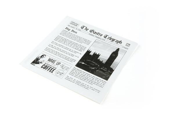 Papiertüten News Paper, fettdicht, 170 x 170mm, 300 Stück