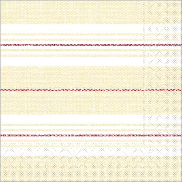 Serviette York in bordeaux-beige aus Tissue 40 x 40 cm, 100 Stück