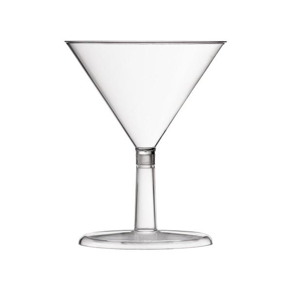 Einweg-Fingerfood Becher Martini aus Plastik, Transparent, 24 Stück