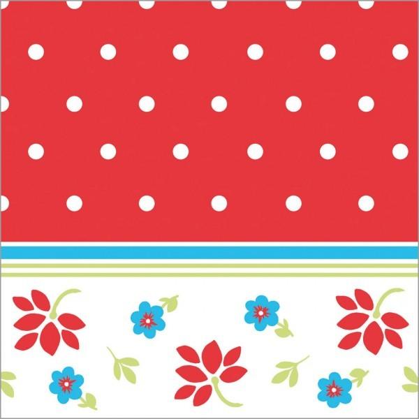 Serviette Lea in rot aus Tissue 33 x 33 cm, 100 Stück