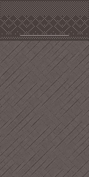 Besteckserviette Braun aus Tissue Deluxe® 40 x 40 cm, 100 Stück