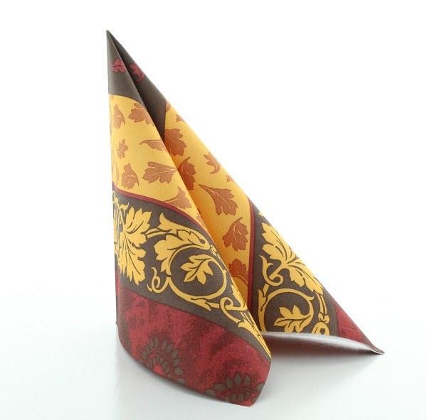 Serviette Amadeus in braun aus Linclass® Airlaid 40 x 40 cm, 50 Stück
