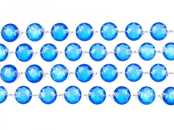 Kristallgirlande, blau, 1 m