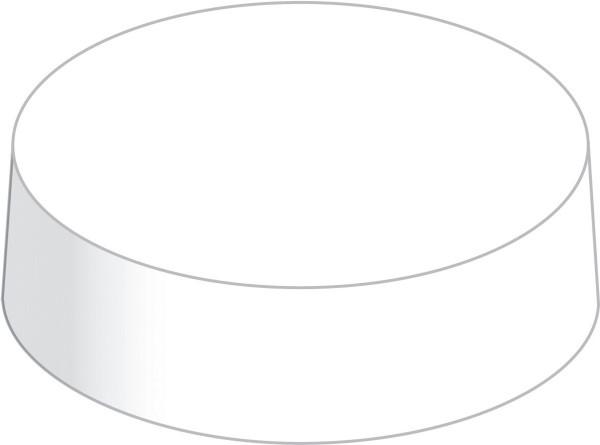 Glasabdeckungen aus hochwertigem Karton in Weiss, Ø 80 mm, 200 Stück
