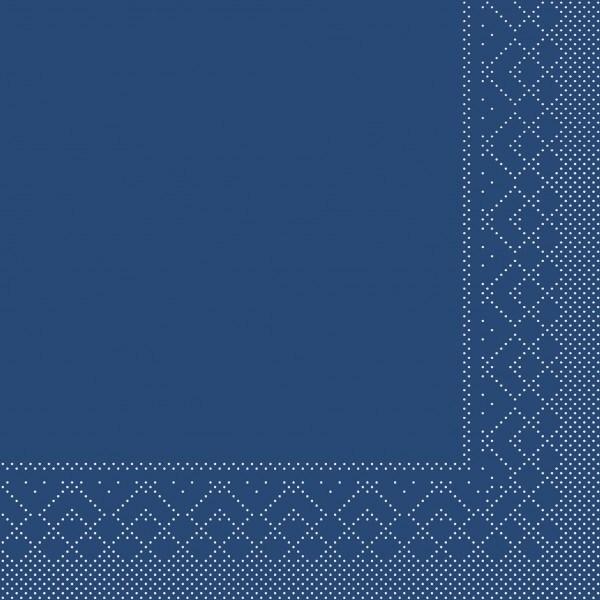 Serviette Blau aus Tissue 33 x 33 cm, 20 Stück