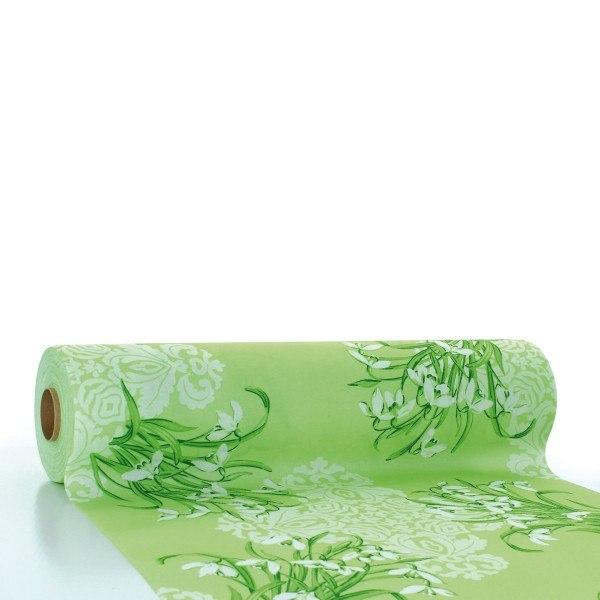 Tischläufer Melanie in Grün aus Linclass® Airlaid 40 cm x 24 m, 1 Stück