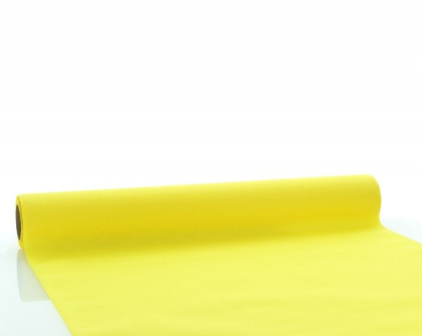 Tischläufer Gelb aus Linclass® Airlaid 40 cm x 4,80 m, 1 Stück
