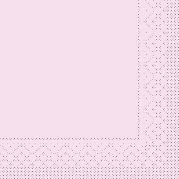 Serviette Rosa aus Tissue 40 x 40 cm, 3-lagig, 20 Stück