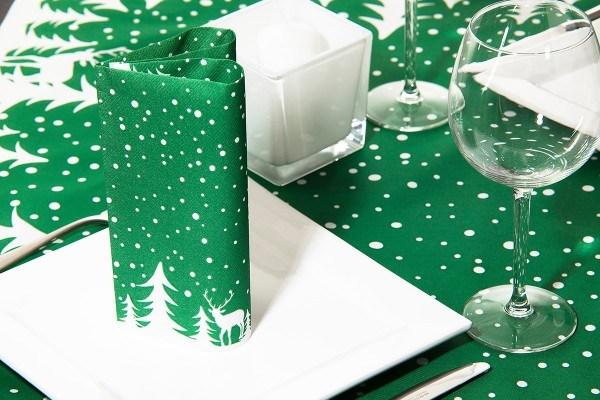 Serviette Marvin in Grün aus Linclass® Airlaid 40 x 40 cm, 50 Stück