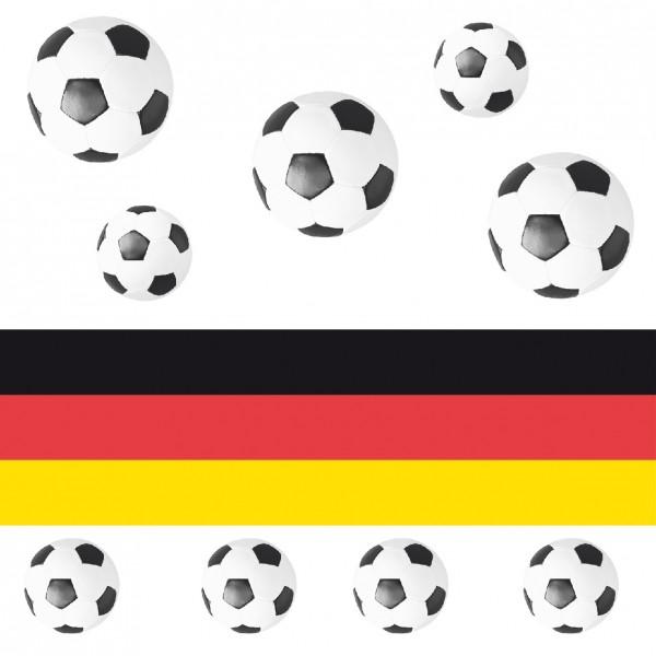 Serviette Flagge Fussball aus Linclass® Airlaid 40 x 40 cm, 12 Stück