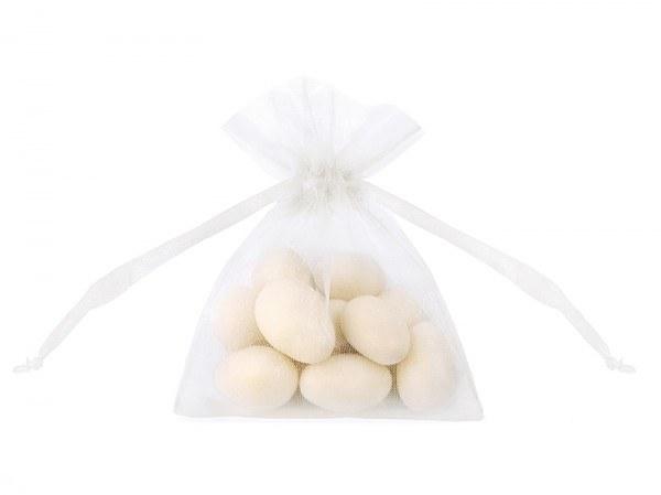 Gastgeschenk Organza Beutel , weiß, 20 Stück
