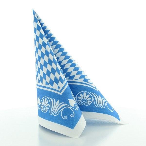 Serviette Bavaria in blau aus Linclass® Airlaid 40 x 40 cm, 50 Stück