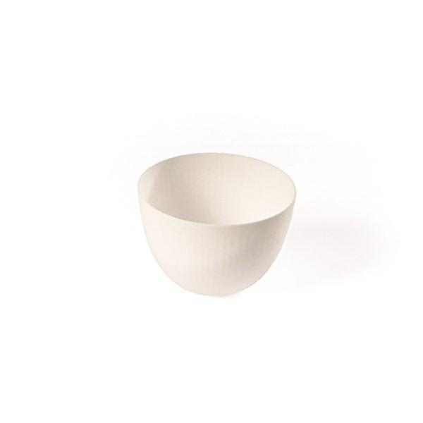 Schüssel aus Zuckerrohr in Weiss, rund, Ø 80 x h 54 mm, 20 Stück
