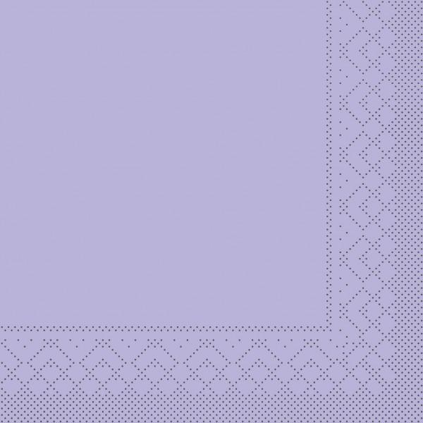 Serviette Lila aus Tissue 33 x 33 cm, 20 Stück