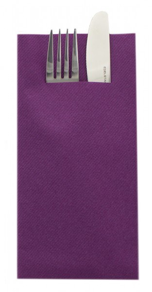 Besteckserviette Aubergine aus Linclass® Airlaid 40 x 40 cm, 75 Stück