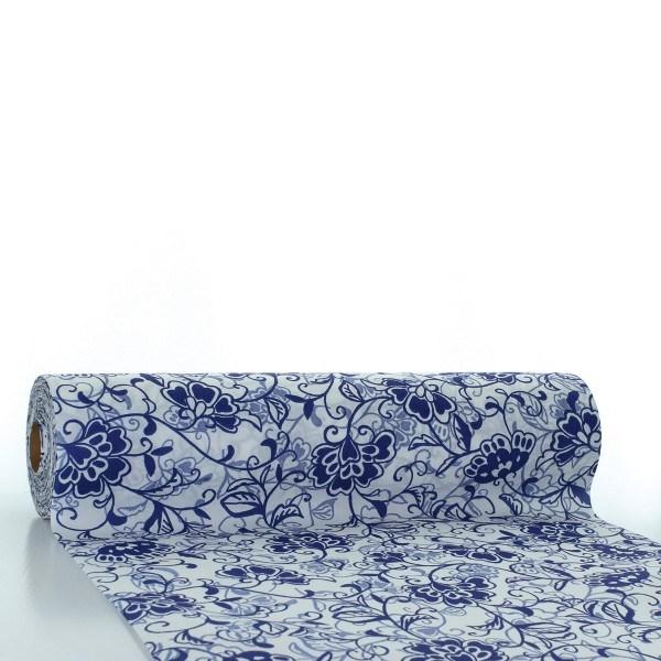 Tischläufer Liv in blau aus Linclass® Airlaid 40 cm x 24 m, 1 Stück