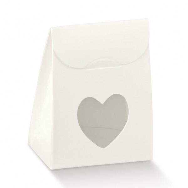 Gastgeschenk Geschenkbox mit Fenster in Herzform, 1 Stück