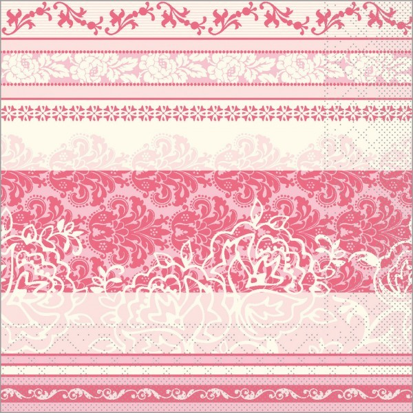 Serviette Thea in altrosa aus Tissue 33 x 33 cm, 100 Stück