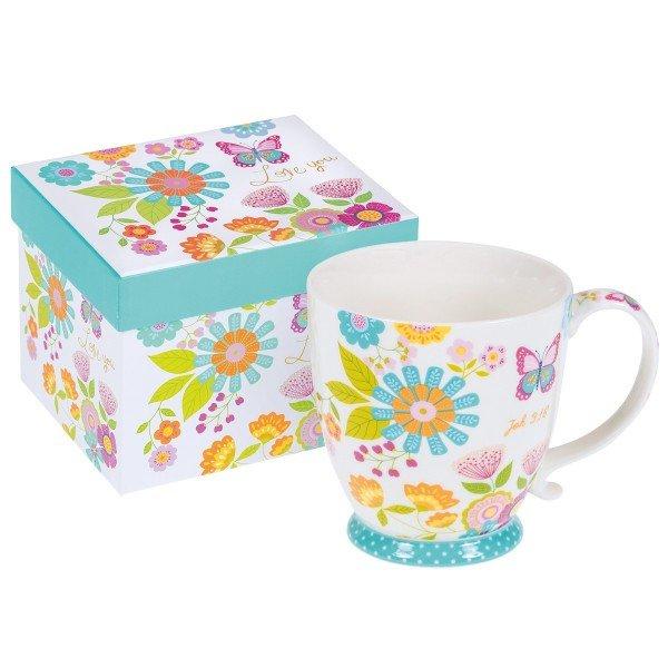 Jumbo-Tasse GOTTES LIEBE mit Geschenkkarton, 1 Stück