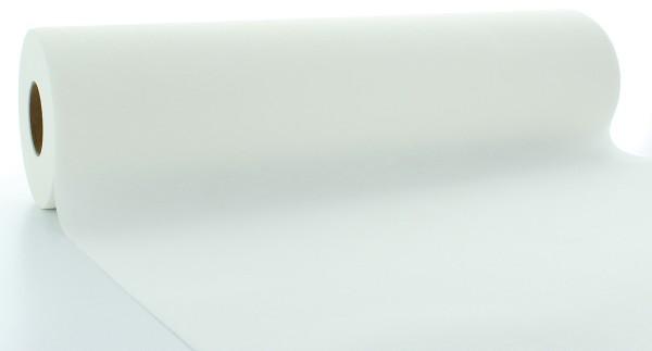 Tischläufer Weiß aus Linclass® Airlaid 40 cm x 24 m, 1 Stück
