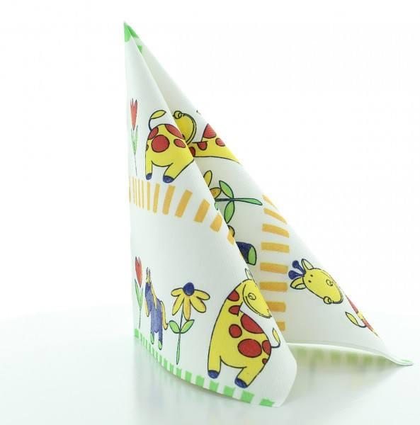 Serviette Bobby in weiß aus Linclass® Airlaid 40 x 40 cm, 50 Stück