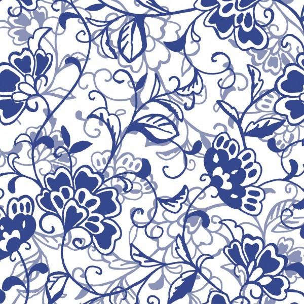 Serviette Liv in Blau aus Linclass® Airlaid 40 x 40 cm, 12 Stück