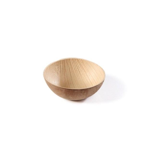Schälchen aus Palmblatt, rund, Ø70 mm, 40 Stück