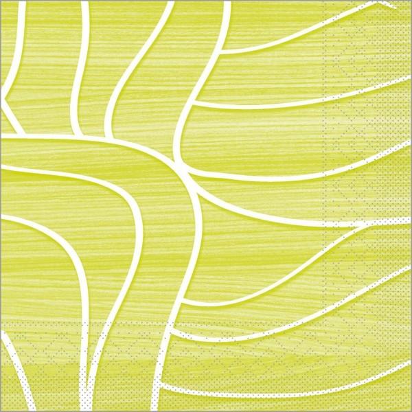 Serviette Rene in lime aus Tissue 33 x 33 cm, 100 Stück
