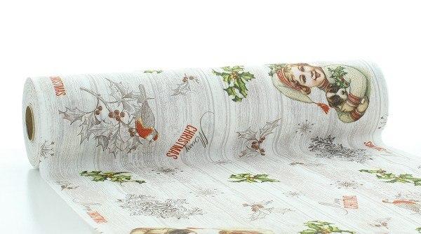 Tischläufer Puppy aus Linclass® Airlaid 40 cm x 24 m, 1 Stück