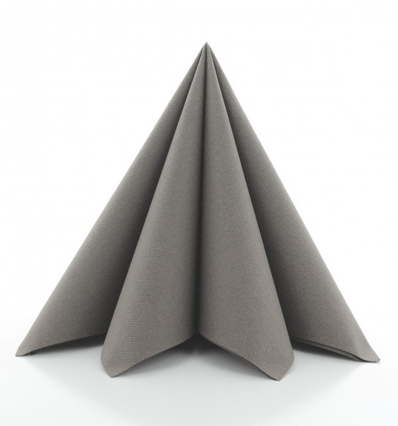 Serviette Beige-Grey aus Linclass® Airlaid 40 x 40 cm, 12 Stück
