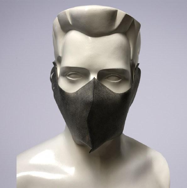 Sovie Care Einweg Behelfs- Mund- und Nasenmaske M4 in Grau aus PP-Vlies - 25 Stück - Masken