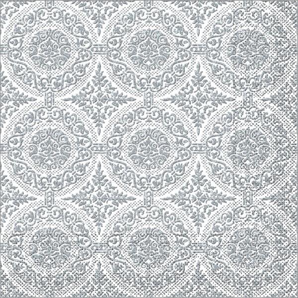 Serviette Madrid-Classic in graphit aus Tissue 40 x 40 cm, 100 Stück