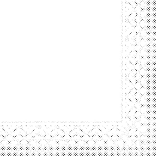 Cocktail-Servietten Weiss aus Tissue 25 x 25 cm, 100 Stück