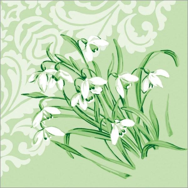 Serviette Melanie in Grün aus Tissue 33 x 33 cm, 100 Stück