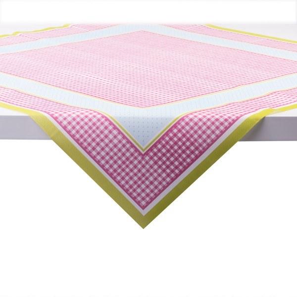 Tischdecke Vichy in Rosa aus Linclass® Airlaid 80 x 80 cm, 20 Stück