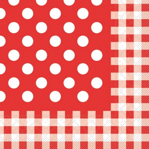 Serviette Anton in Rot aus Tissue 33 x 33 cm, 20 Stück