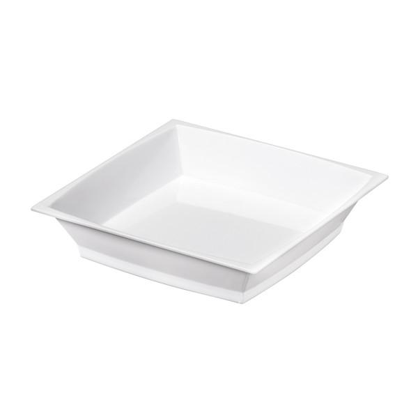 Einweg-Fingerfood Mini Teller aus Plastik, Weiss, 50 Stück