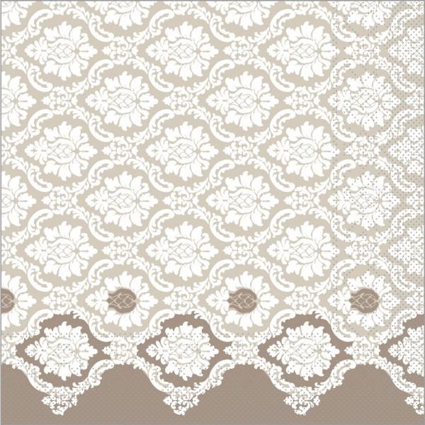 Serviette Mandy in grau aus Tissue 40 x 40 cm, 100 Stück