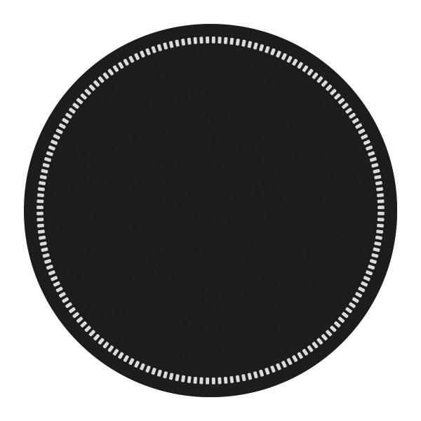 Tassen-Deckchen Basics Schwarz aus Tissue 9-lagig, Ø 90 mm, 250 Stück