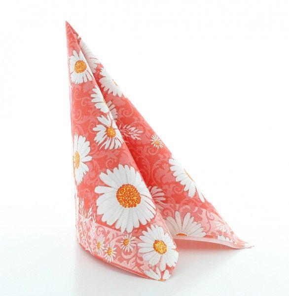 Serviette Lissy in rot aus Linclass® Airlaid 40 x 40 cm, 50 Stück