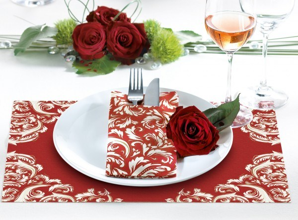 Tischset Cascade in Bordeaux aus Linclass® Airlaid 40 x 30 cm, 100 Stück