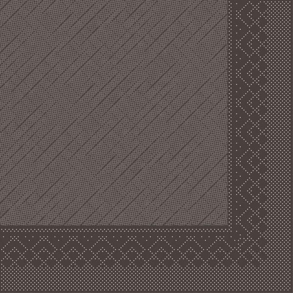 Serviette Braun aus Tissue Deluxe®, 4-lagig, 40 x 40 cm, 50 Stück