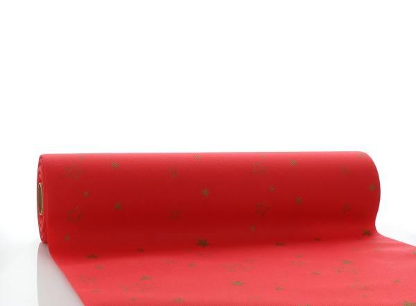 Tischläufer Liam in Rot aus Linclass® Airlaid 40cm x 24 m, 1 Stück