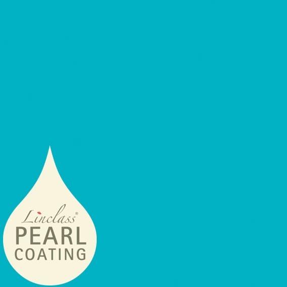 Tischdecke Aquablau mit Pearl Coating (wasserabweisend) 80 x 80 cm, 15 Stück