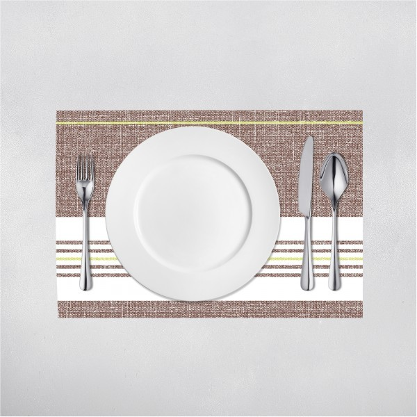 Tischset Big York in Kiwi-Braun aus Linclass® Airlaid 40 x 30 cm, 100 Stück